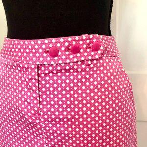 J.CREW stretch mini skirt